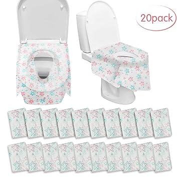 Banana Basics Flushable Disposable Paper Toilet Seat Cover .. 5 Packs, 10 Each