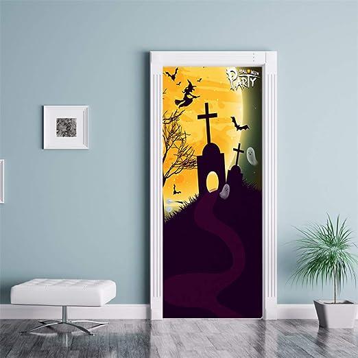 Halloween Decorations Party Supplies Demon Refrigerator Fridge Door Cover Poster