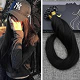hair extention package - Ugeat 16inch U tip Hair Extensions Color #1 Jet Black Brazilian Remy Human Hair Nail Tip Hair Extensions 100 Real Human Hair