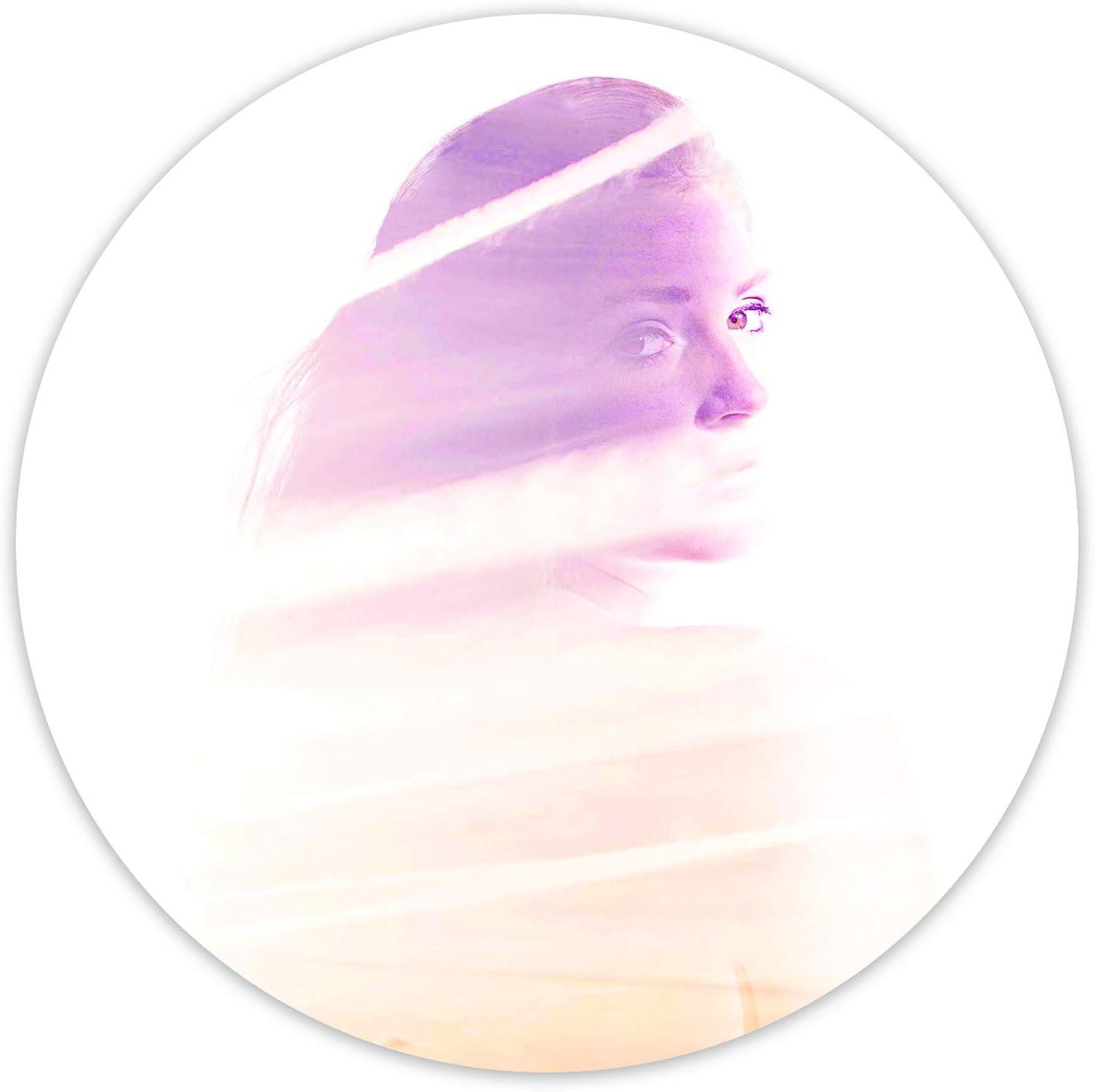 Feeby Cuadro Circulo Imagen XXL Mujer Impresión de Arte Abstracto Retrato Blanco 80 cm