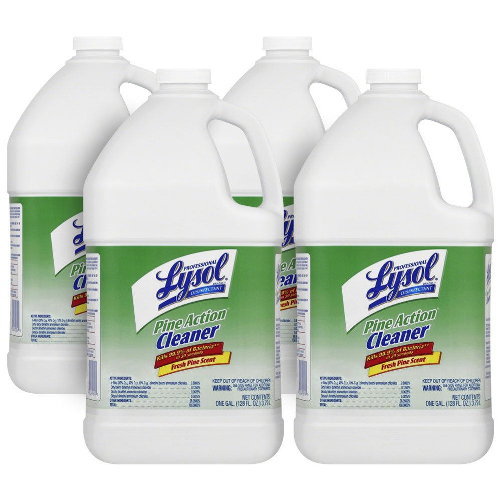 Professional Lysol Pine Action Cleaner, Concentrate, 4gal (4X1gal)