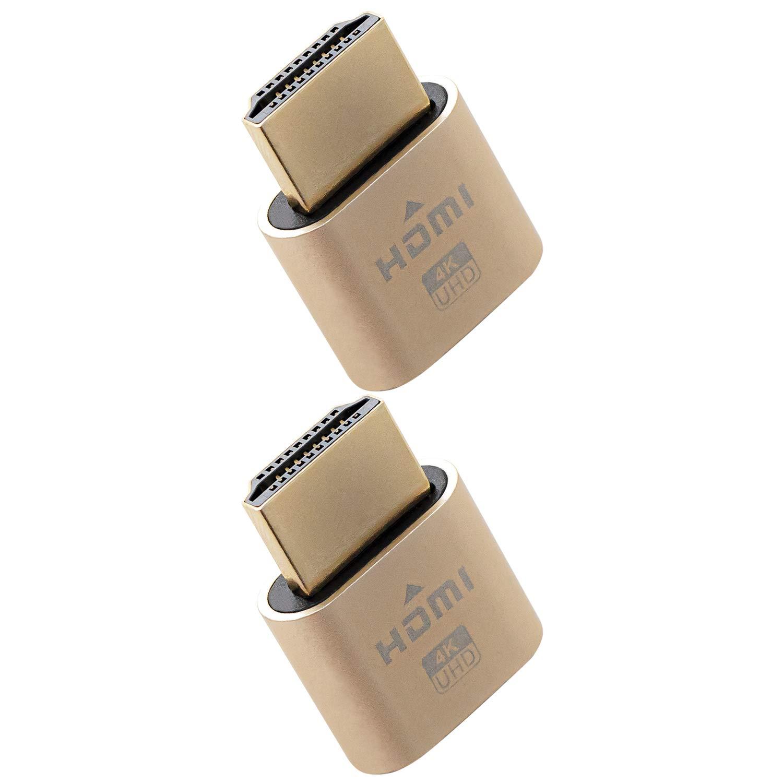 2 HDMI Dummy Plug 4K Emulador Sin Cabeza Pantalla Fantasma