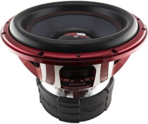 DS18 HOOLIGAN X15.4D Subwoofer in Red