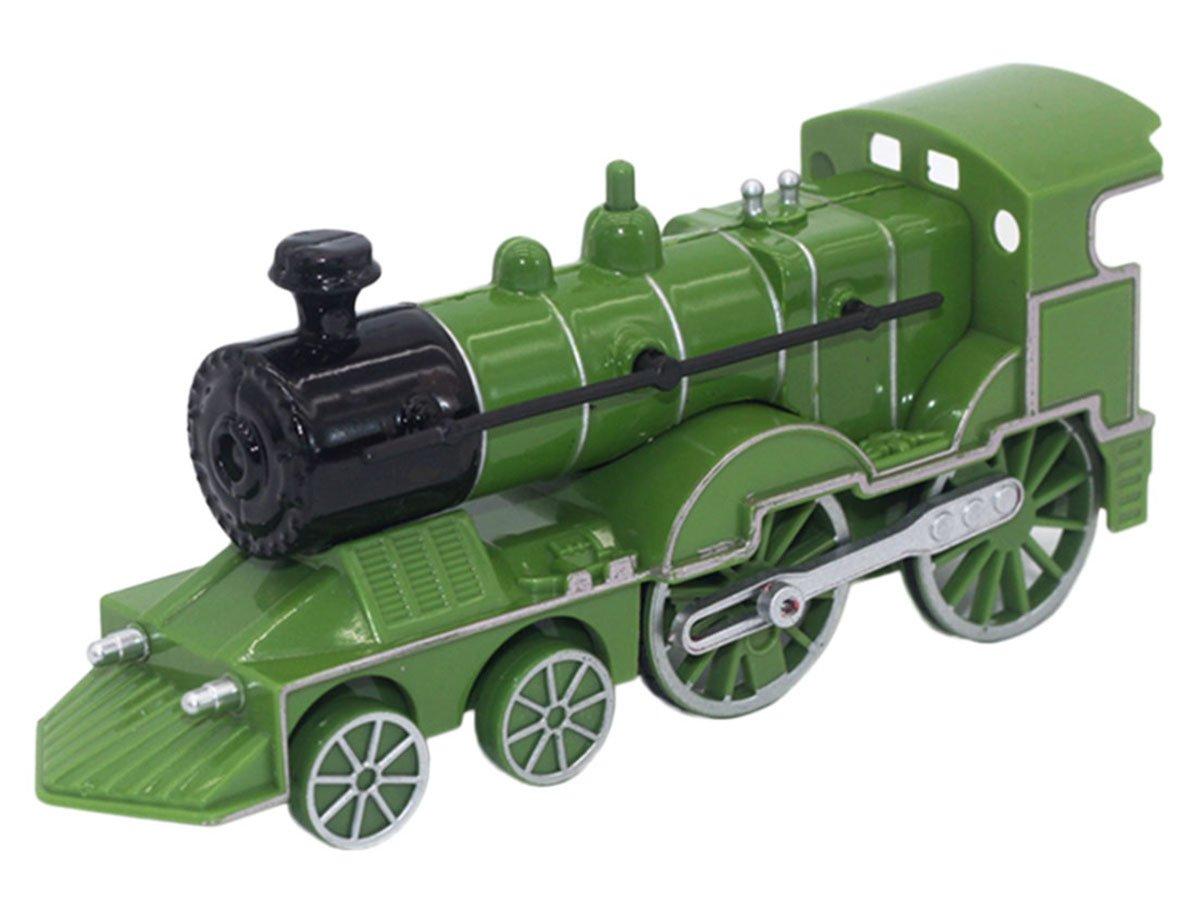 Happy Cherry Lokomotive mit Sound und Licht, Spielzeug aus Legierung und Kunststoff Geschenk für Kinder - Grün