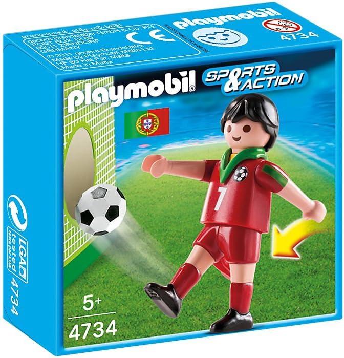 Playmobil Fútbol - Fútbol: Jugador Portugal (4734): Amazon.es ...