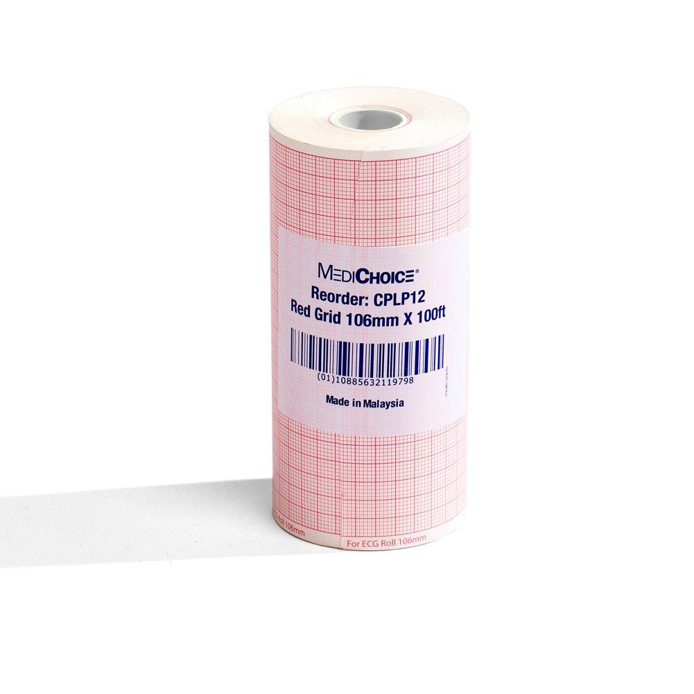 MediChoice EKG Chart Paper 1 Pad 200 Sheets Per Pad 3 Channel Z-Fold 1314CP18416