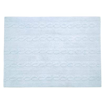 Lorena Canals Braids Soft Blue Washable Rugs: Kitchen & Dining