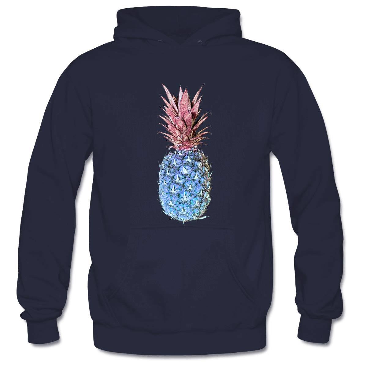 Mens Artistic Pineapples #1 Hooded Sweatshirt Funny Printed Pullover Hoodies Classic Long Sleeve T Shirt Tops