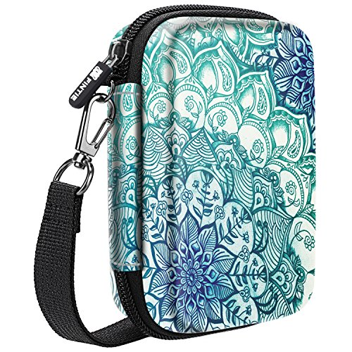 Fintie Carry Case Compatible with Polaroid Snap/Snap Touch Instant Camera, Polaroid Zip/HP Sprocket 2nd Edition Printer, HP Sprocket 2-in-1, Hard EVA Shockproof Storage Travel Bag (Emerald Illusions) ()