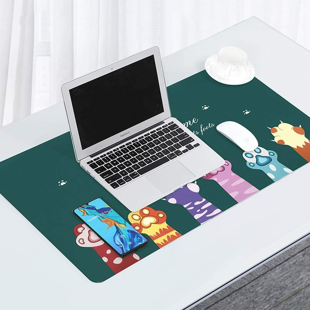 Color : A, Size : 9045cm DNZMJRD Mouse Pad Oversized Laptop Pad Keyboard Desk Pad Home Office Long Thick Cute Girl Desk Pad Male Business Game Book Desktop Mat