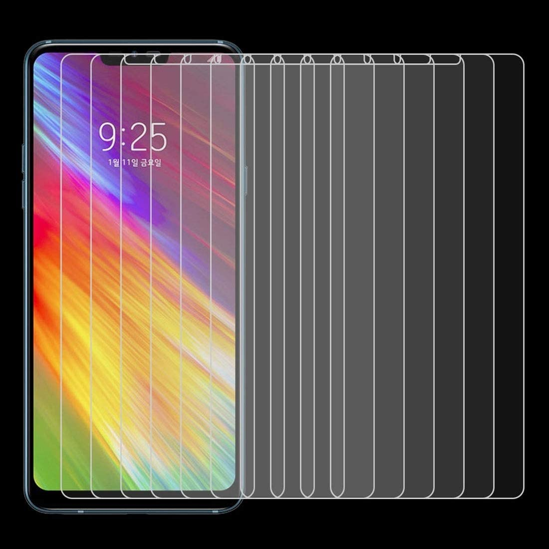 DESHENG Clear Screen Protector 100 PCS 0.26mm 9H 2.5D Tempered Glass Film for LG Q9 Glass Film