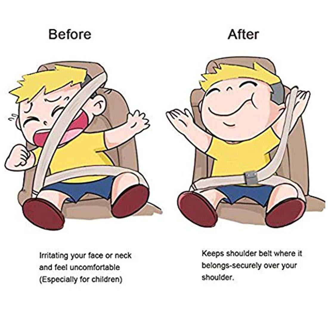 Seatbelt Adjuster Black Vehicle Seat Belt Positioner for Automotive Protective Strap Adults and Kid Neck Protector Locking Seatbelt Adjuster for Car Seatbelt 2 pcs