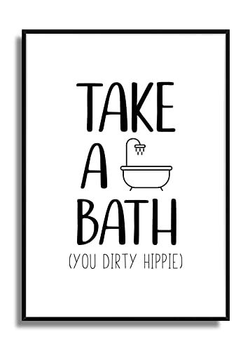 Kunstdruck Bad Poster WC Bild Badezimmer Print DIRTY HIPPIE: Amazon ...