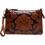 Baofashion Women's Chinese Style Print PU Clutch Elegant Shoulder Bag