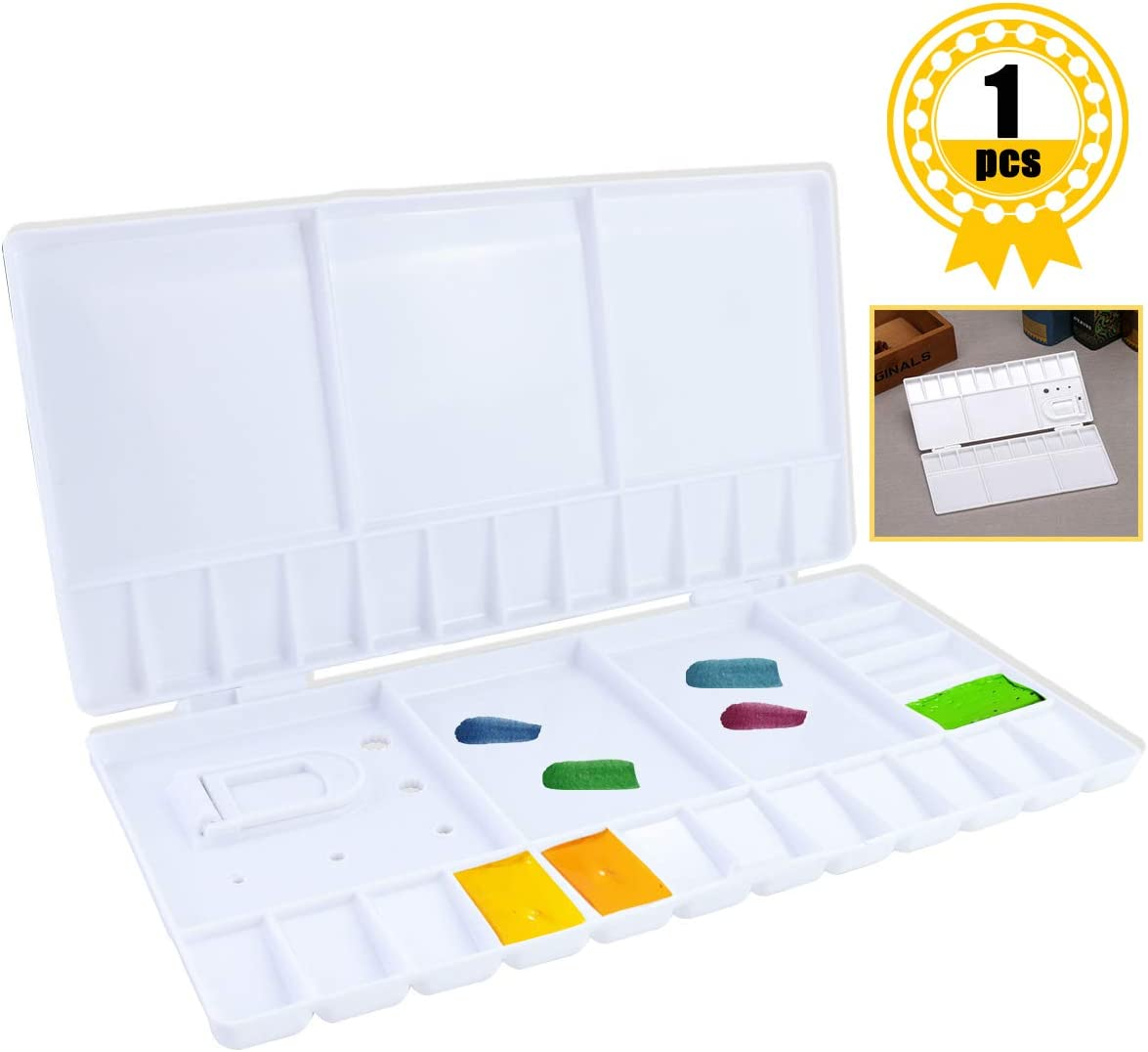paleta de acrilico con 33box con tapa para viajes