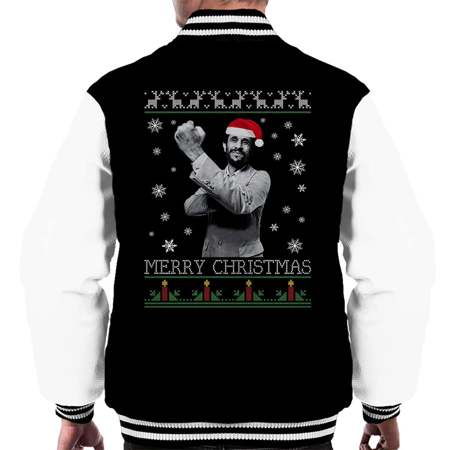 Mahmoud Ahmadinejad Merry Christmas Knit Men's Varsity Jacket