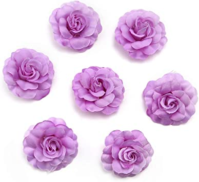 Bulk Artificial Flowers Silk Mini Rose Heads for DIY Party Home Decoration Craft