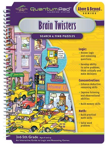 Quantum Pad Learning System: Brain Twisters Interactive Book and Cartridge -
