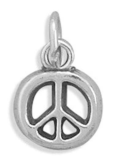 Amazon Sterling Silver Charm 12 Inch Tall Peace Signsymbol