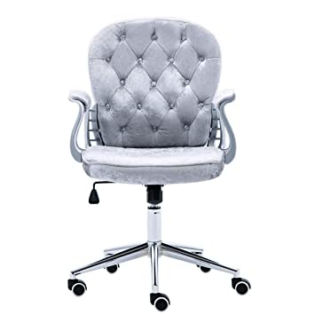 cad59eab3c97 JL Comfurni Home Office Chair Swivel Adjustable Computer Desk Chairs (Grey)