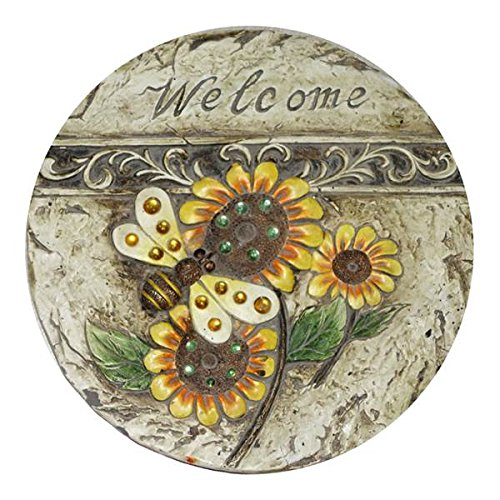 Alpine WGG186BB 11 in. Welcome Bee Sunflower Stepping Stone