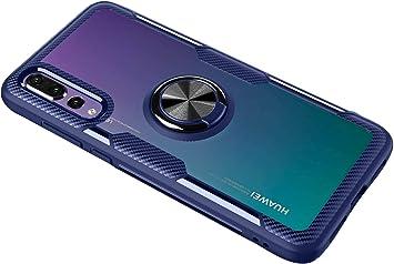 SORAKA Funda Transparente para Huawei P20 Pro con Anillo ...