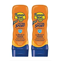 Banana Boat Sport Performance Lotion Sunscreens with PowerStay Technology SPF 30, 8 Ounces (Pack of 2)