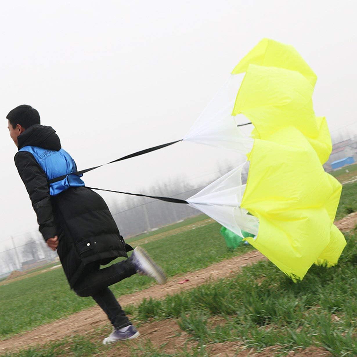 Camellia Vitesse R/ésistance Parachute Training Course Sport Chute Football Exercice Jaune