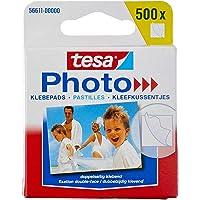 tesa Fotoplakkers - Dubbelzijdig klevend voor het makkelijk vastplakken van foto's - Grote verpakking met 500 stuks…
