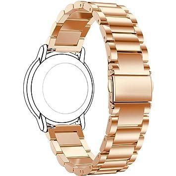 Bescita Edelstahl Armband Metalluhr Luxuriöse Mode Ersatz Uhrenarmband Metall Strap Stahlgürtel Uhr Erstatzband Wrist Band für Samsung-Galaxie-Uhr 46mm Gold
