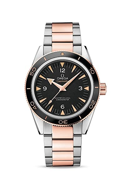 Omega Stainless Steel And 18kt Rose Gold Mens Watch 23320412101001