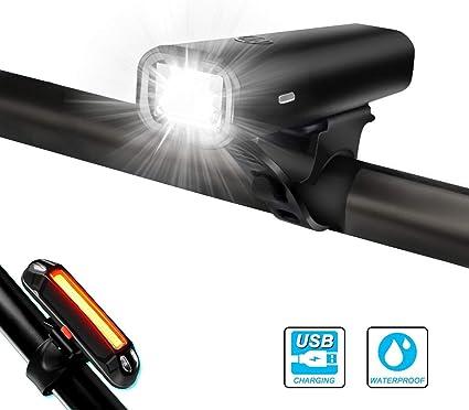 Aluminium LED lumières de vélo bicyclette cycle set feux clignotant avant et arrière