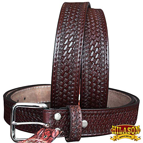 "HILASON 30""-60"" Handmade Concealed Carry Leather Stitch Gun Holster Belt from HILASON"