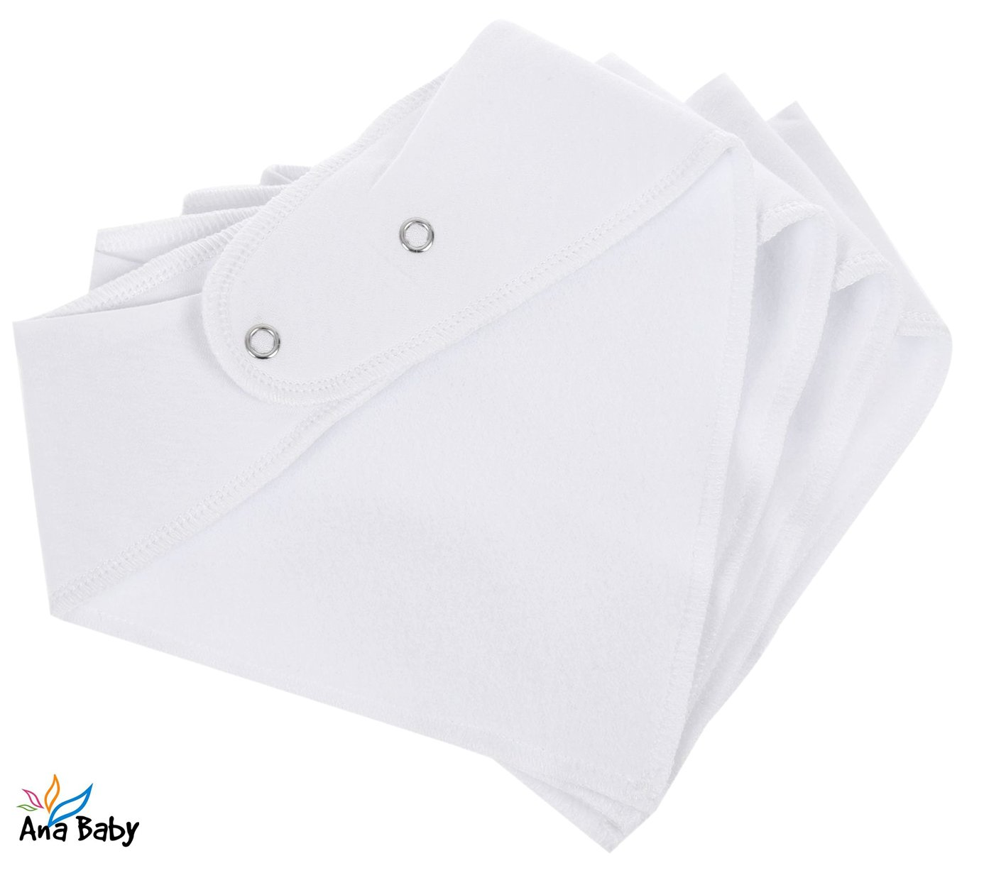 10-Pack Baby Bandana Drool Bibs Plain White for Drooling and Teething Hypoallergenic Unisex Bibs for Baby Boys /& Girls 100/% Organic Cotton Baby Shower Gift Set by Ana Baby Soft and Absorbent