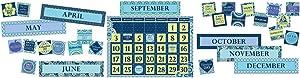 Eureka Back to School Blue Harmony Calendar Classroom Supplies, 18 ''x 0.1'' x 28'', 85 pc.