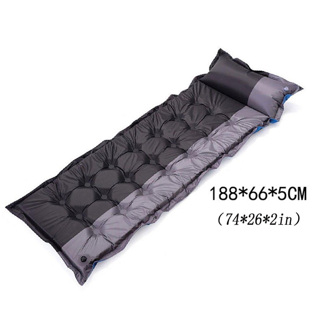 DLMDO aufblasende Schlafmatte Outdoor Strand Camping aufblasbare Matratze