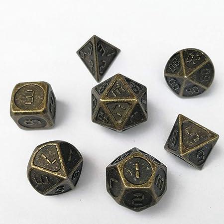HIMA Juego de 7 Piezas/Juego de Pinzas de poliedro, aleación de Zinc, Adecuado para Todo Tipo de Juegos de Mesa y enseñanza de matemáticas: Amazon.es: Hogar