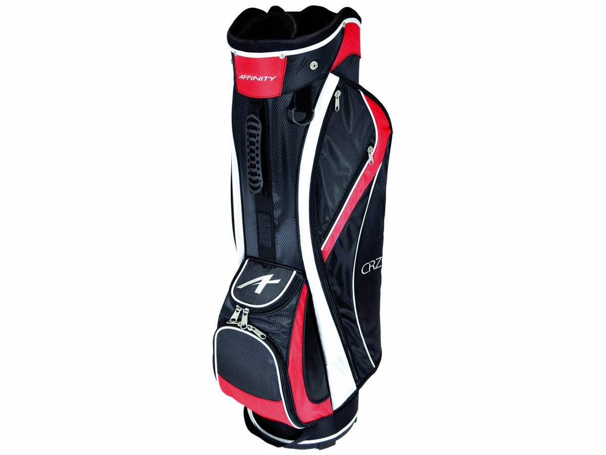 AFFINITY CRZ 9.5 Golf Cart Bag, Black/Red/White