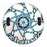Chanvi Snow Tube Sled Air Tube Winter Inflatable Round with Big Grab Handles 38 Inch- Heavy Duty with Rapid Valves (Blue)