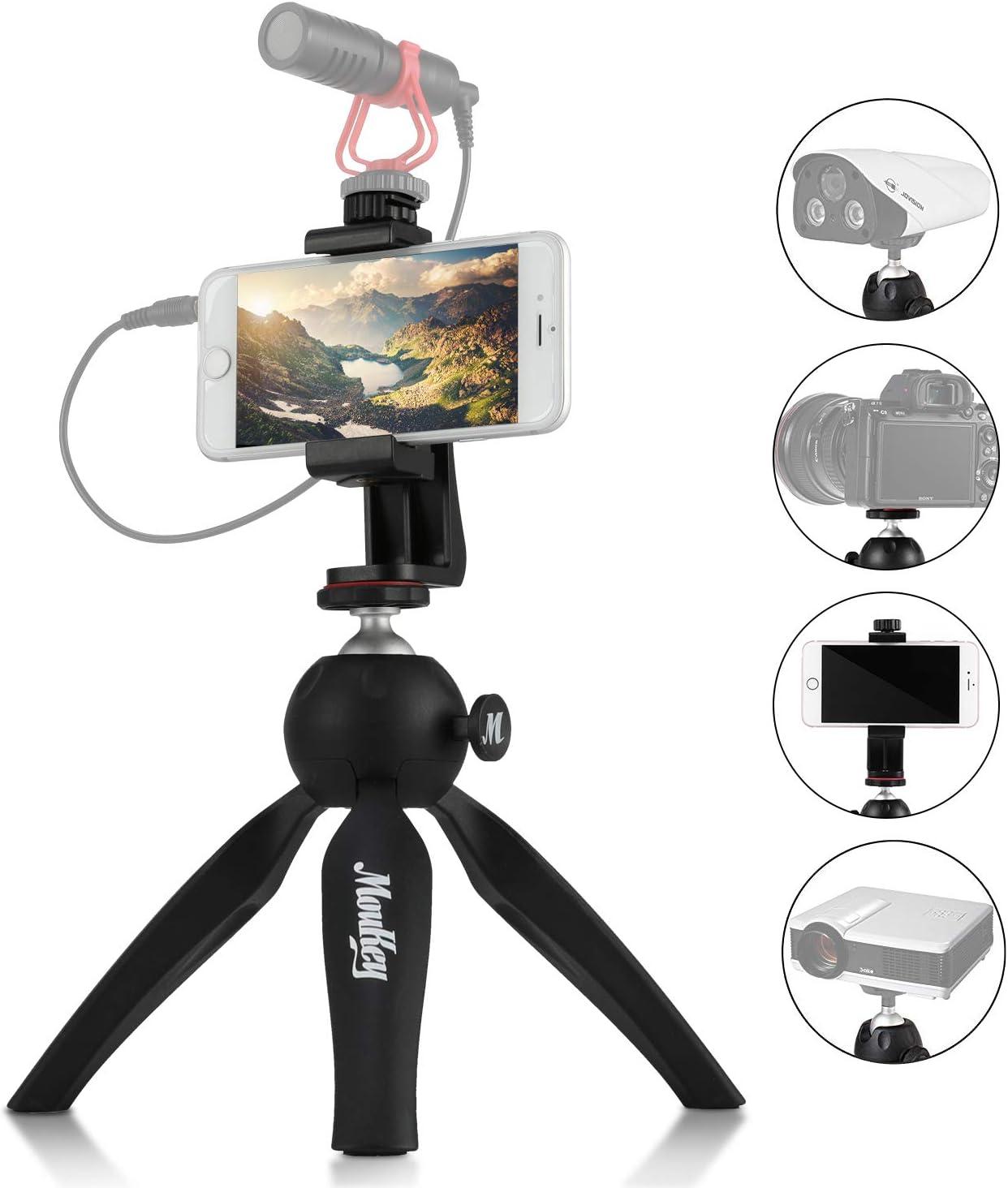 Moukey Mini Trípode Móvil/Cámara de Mesa para Smartphone, Gopro ...