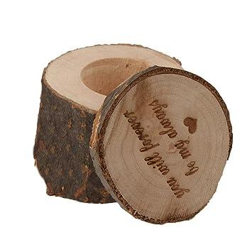 Kobwa Holzerne Hochzeit Ring Box Aus Holz Rustikal Schabig Hochzeit
