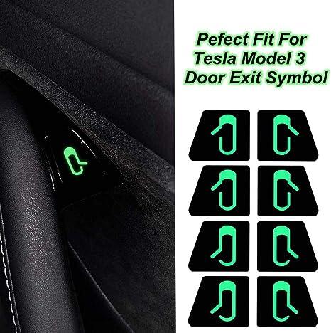 Fits Tesla Model 3 Door Open Exit Sticker Decal Interior Open Button Reminder