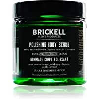 Brickell Men's Polishing Body Scrub for Men, Natural and Organic Body Exfoliator to Remove Dirt, Prevent Blemishes, and…
