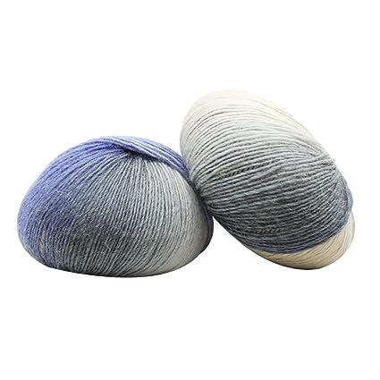 92c8d08480b3d Pelote de laine artificielle couleur gradient arc-en-ciel pour écharpe,  chapeaux,