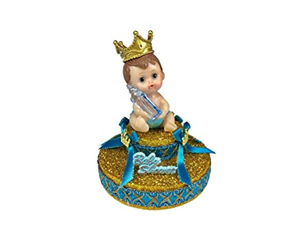 Amazon Com Baby Shower Royal Baby Blue Little Prince Cake