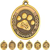 Dog Tags for Dogs Engraved Personalized Dog Name tags Pet ID Tags Large Brass 3D Military Logo Small Dog Tags Ring (Paw Tag )Poodle/Bull Dog/Golden Retriever/German Shepherd/Beagle/Labrador Retriever