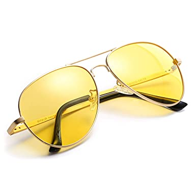Myiaur gafas de so polarizadas amarillas para mujeres de la conduccion nocturna/la motos nocturna/Conducir Nocturnas Polarizadas - 100% UVA UVB ...