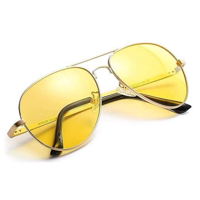 eba292a224 Myiaur gafas de so polarizadas amarillas para mujeres de la conduccion  nocturna/la motos nocturna