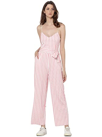 6fe2ff5995e5 ONLY Women s Striped Jumpsuit - White - 14  Amazon.co.uk  Clothing