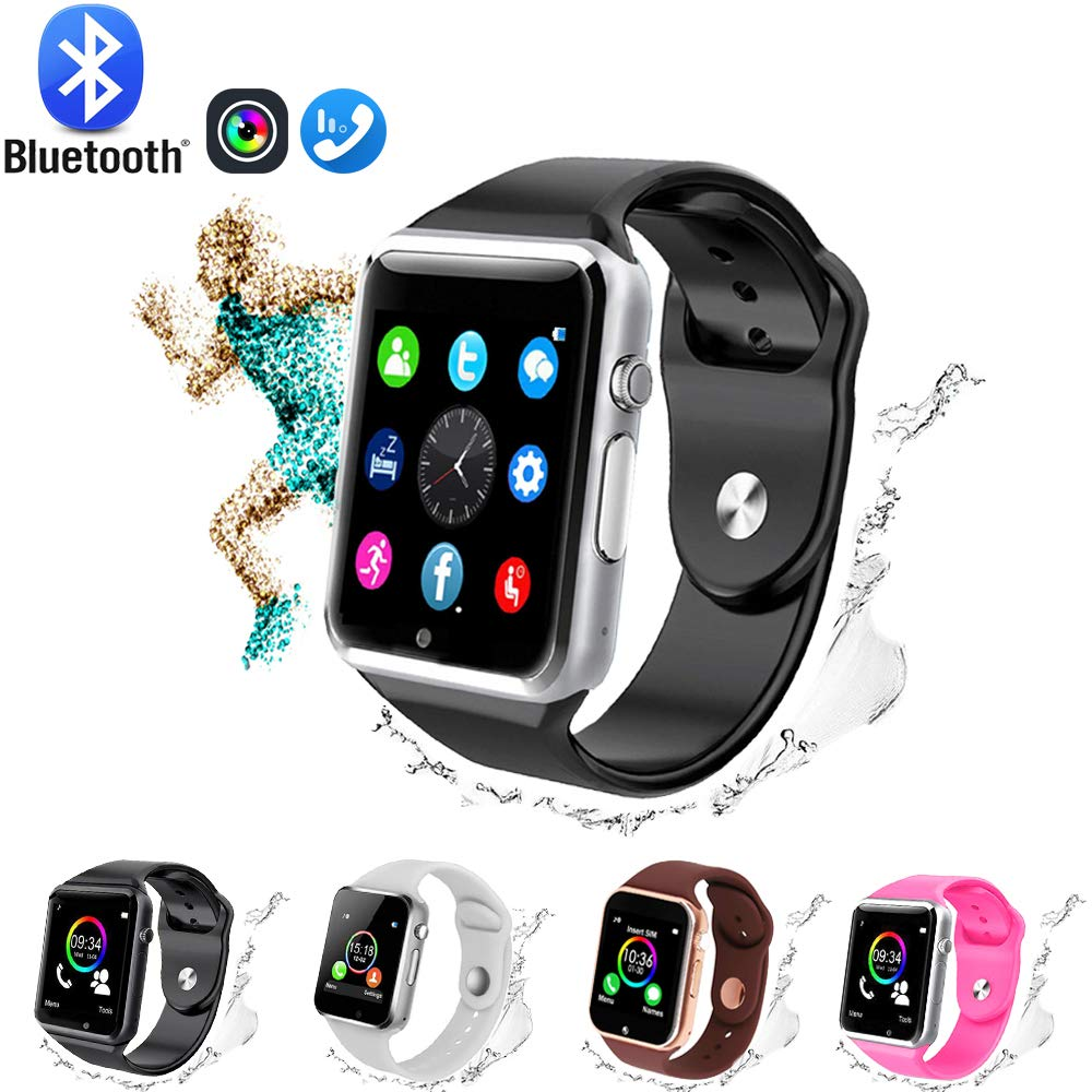 GL Smart Watch,Bluetooth Smart Watch Touch Screen Sport Smart Wrist Watch, Fitness Tracker Camera Pedometer SIM TF Card Slot Compatible Samsung ...